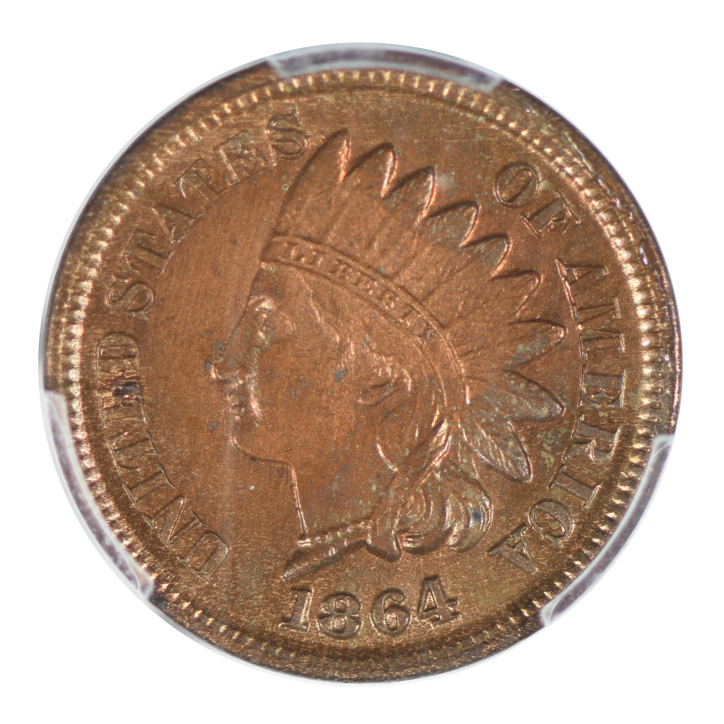 1864 Indian Head Cent PCGS Uncirculated Detail