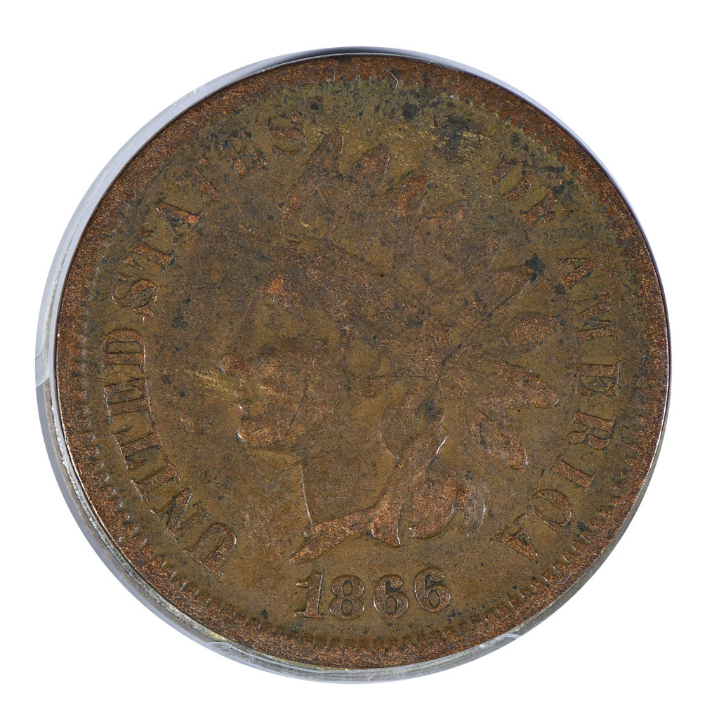 1866 Indian Cent Very Good