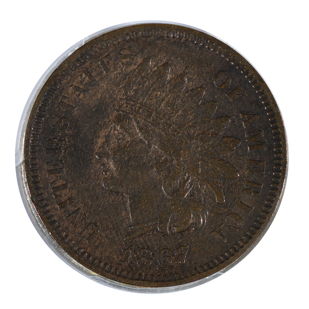1867 Indian Cent Very Fine