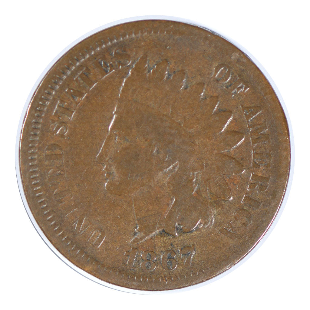 1867 Indian Cent Very Good