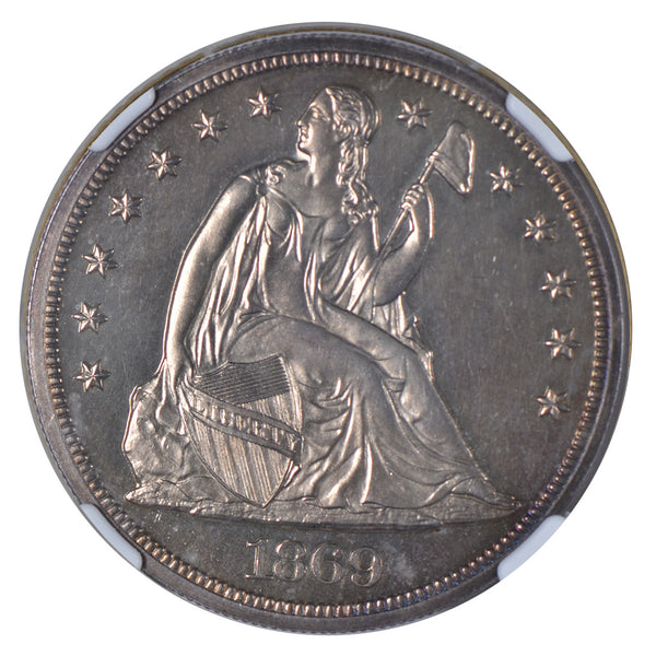 1869 Seated Liberty Dollar NGC PF63 CAC