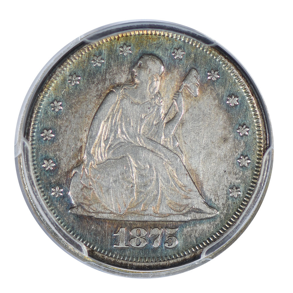 1875 Seated Liberty 20 Cent Piece PCGS  Very Fine Detail