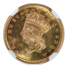 1877  $1 Gold Indian Princess Piece Type 3 NGC MS67