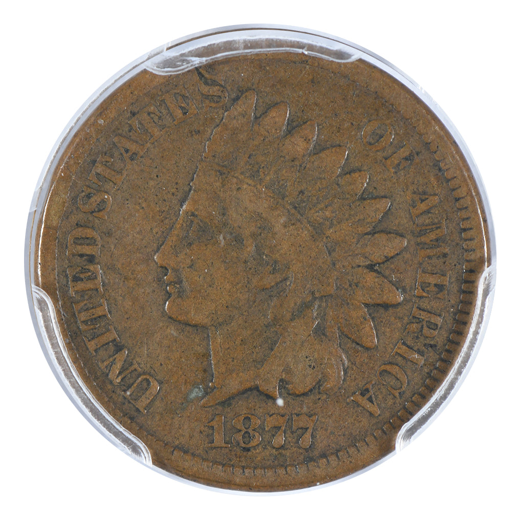 1877 Indian Head Cent PCGS F12