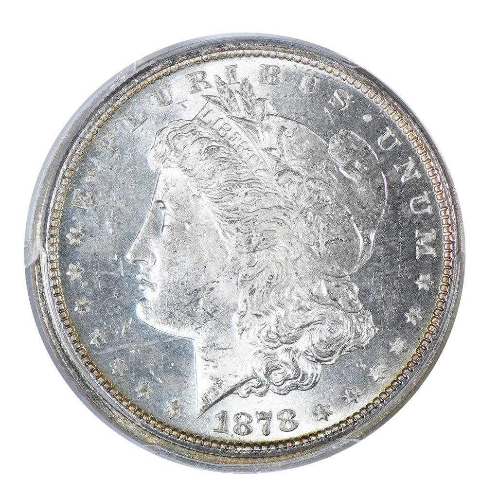 1878 Morgan Dollar 7/8TF Strong PCGS MS63