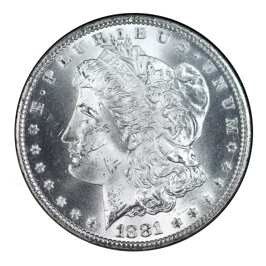 1881-CC U.S. Morgan Silver Dollar GSA NGC MS64