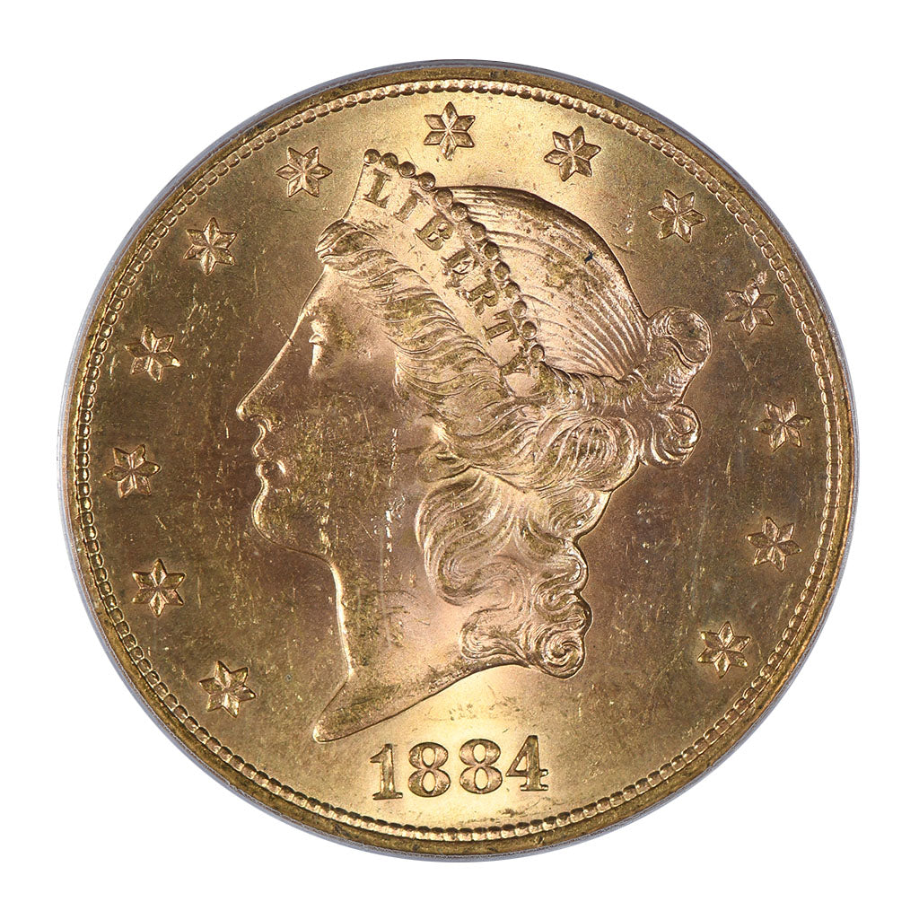 1884-S $20 Gold Liberty Head Double Eagle PCGS MS63 CAC