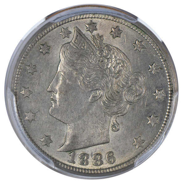 1886 Liberty Nickel PCGS AU55 #195210