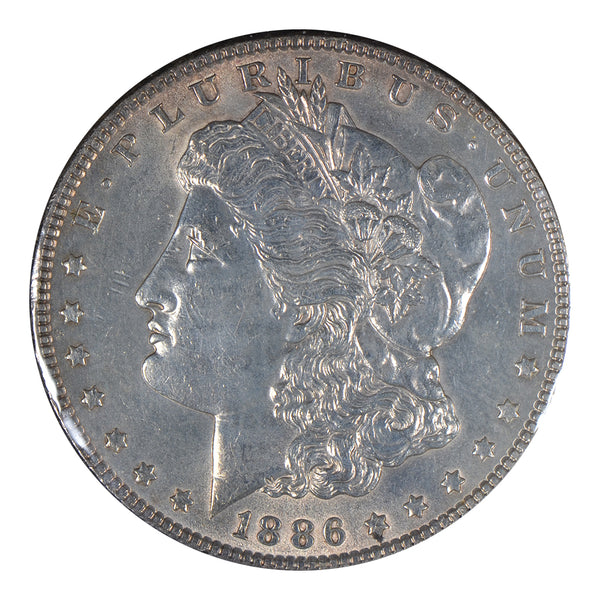 1886 Morgan Dollar About Uncirculated #191330