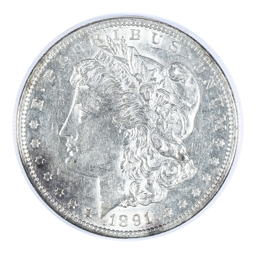 1891-CC Morgan Dollar About Uncirculated