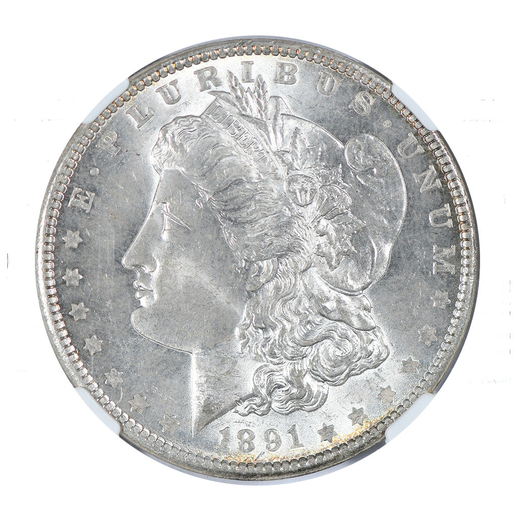 1891 Morgan Dollar NGC MS63