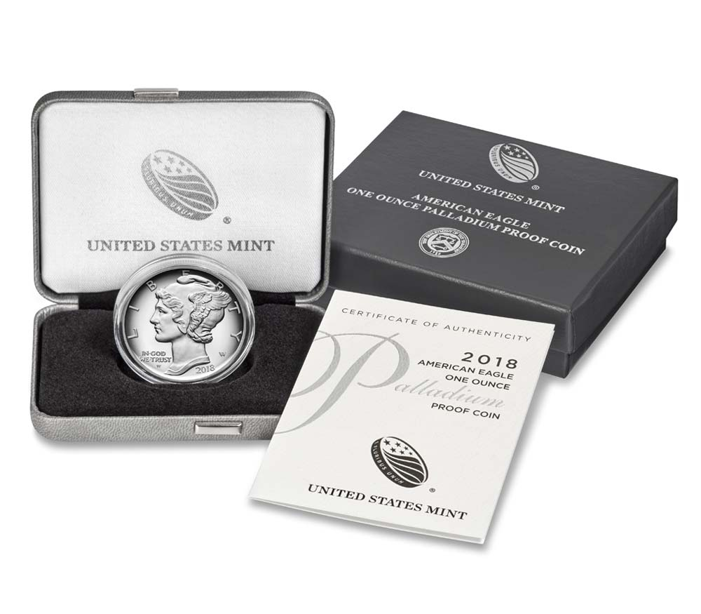 2018-W American Eagle One Ounce Palladium Proof Coin