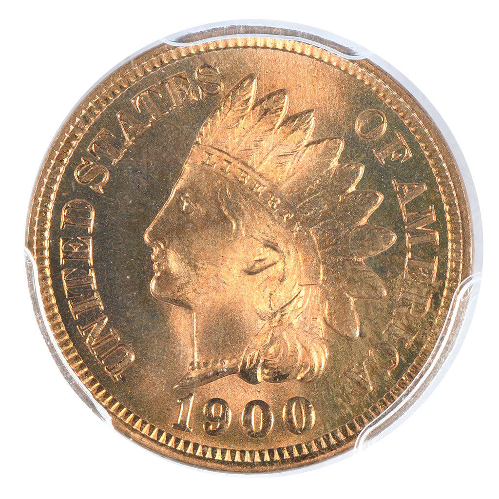 1900 Indian Head Cent PCGS MS66RD