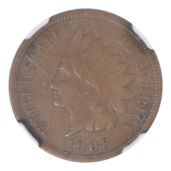 1908-S Indian Cent NGC XF45 BN