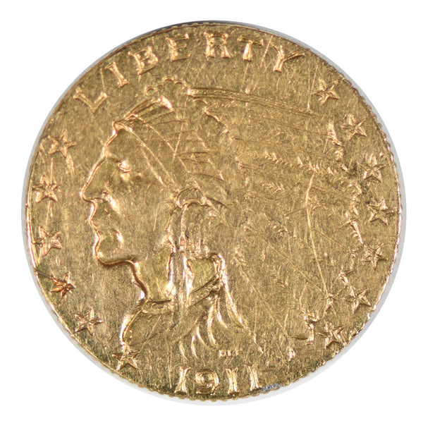 1911-D $2.50 Gold Indian Strong D Extra Fine
