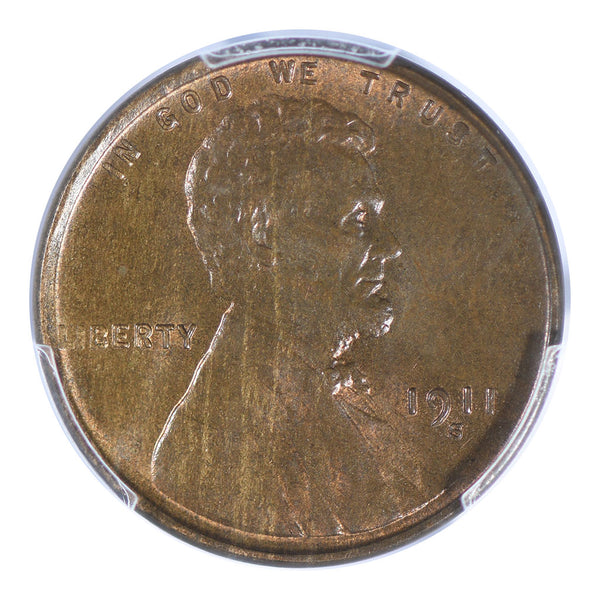 1911-S Lincoln Wheat Cent PCGS MS65BN CAC