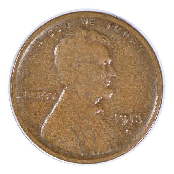 1913-S Lincoln Wheat Cent Very Good