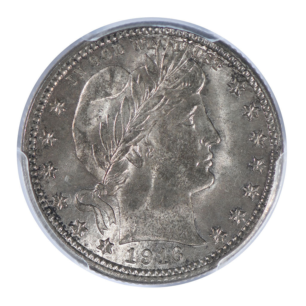 1916-D Barber Quarter PCGS MS64