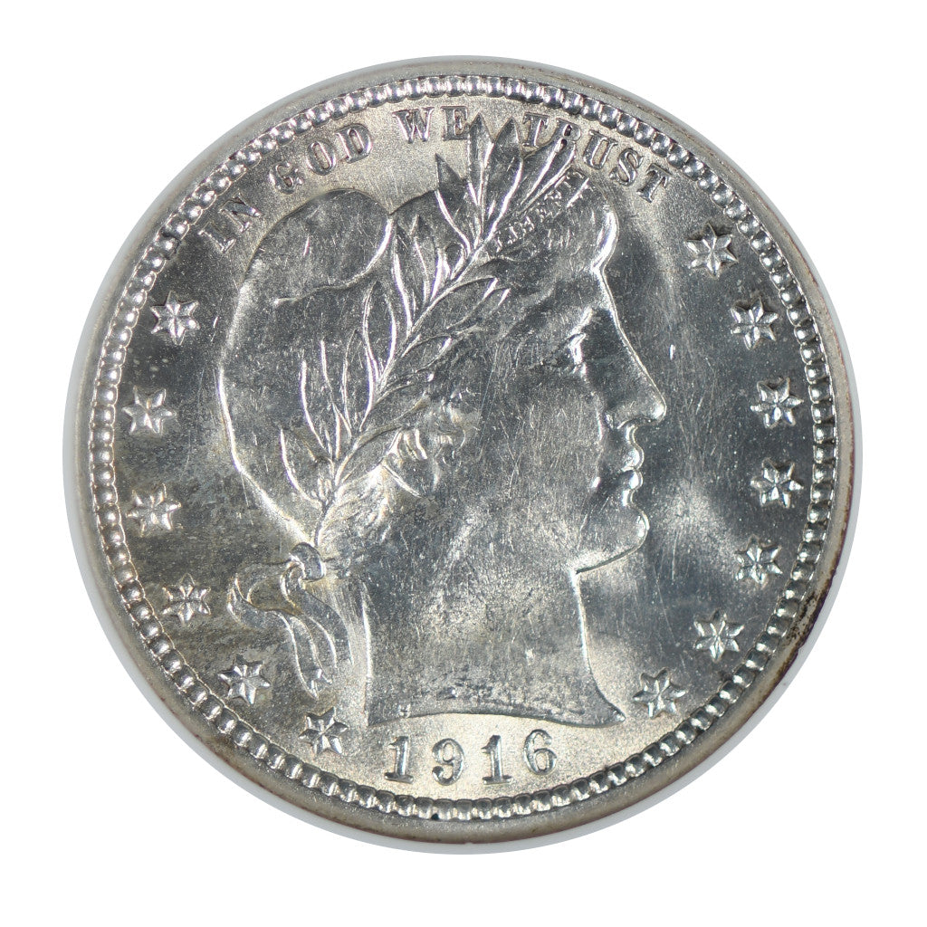 1916 Barber Quarter Mint State