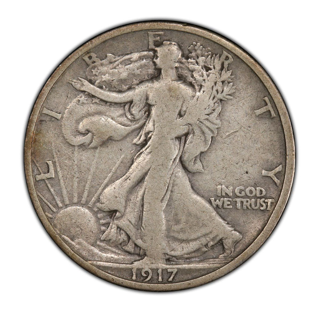 1917 Walking Liberty Half Dollar Very Good