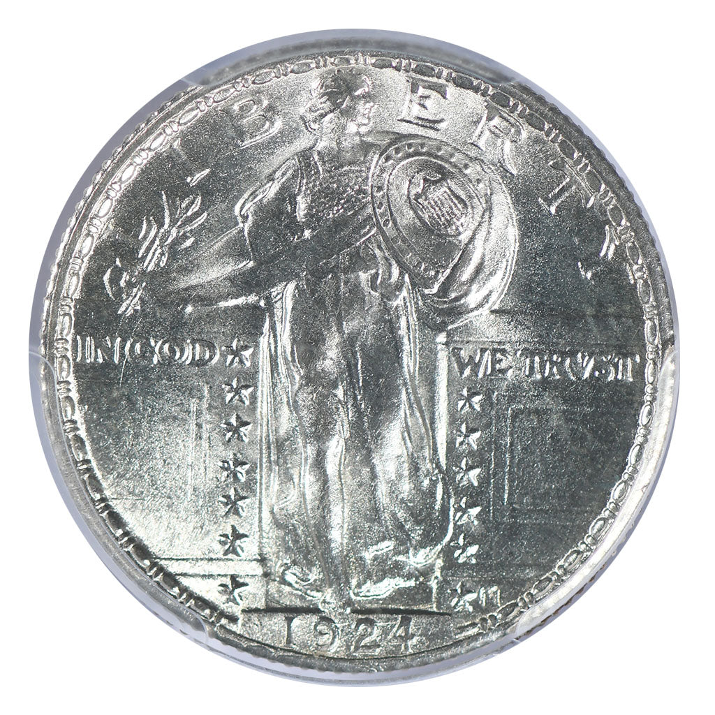 1924 Standing Liberty Quarter PCGS MS66+