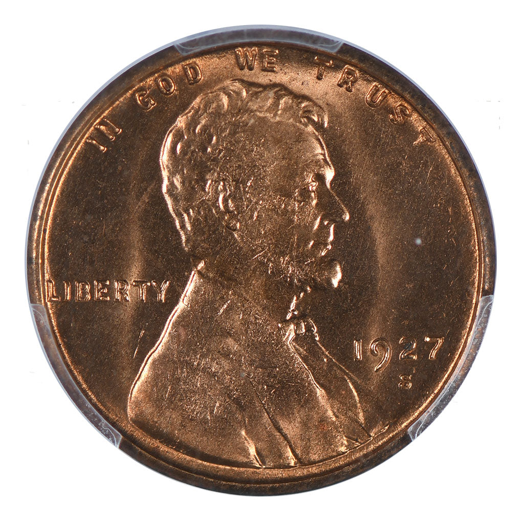 1927-S Lincoln Cent PCGS MS64RD