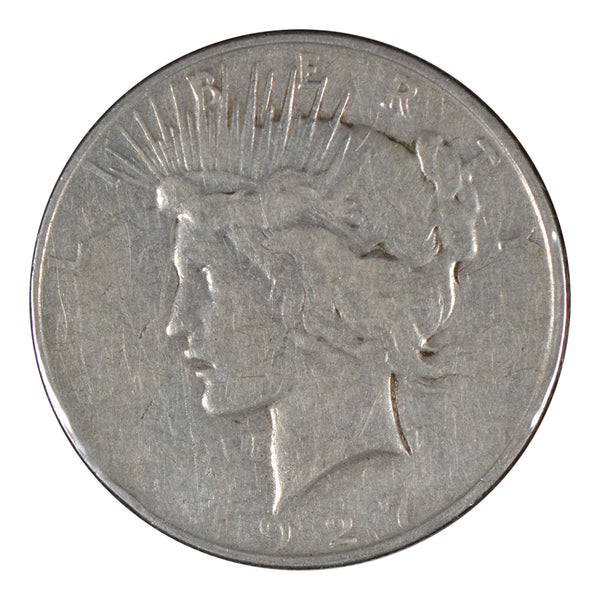 1927 - D Peace Dollar Very Good Condition #195168