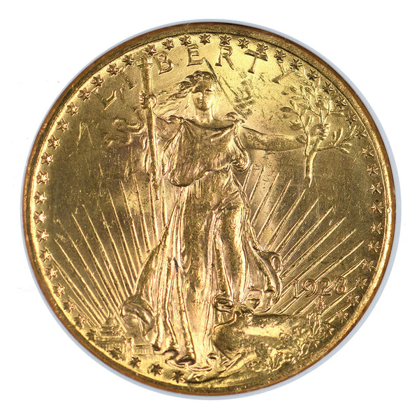 1928 $20 Gold Saint Gaudens Double Eagle NGC MS63