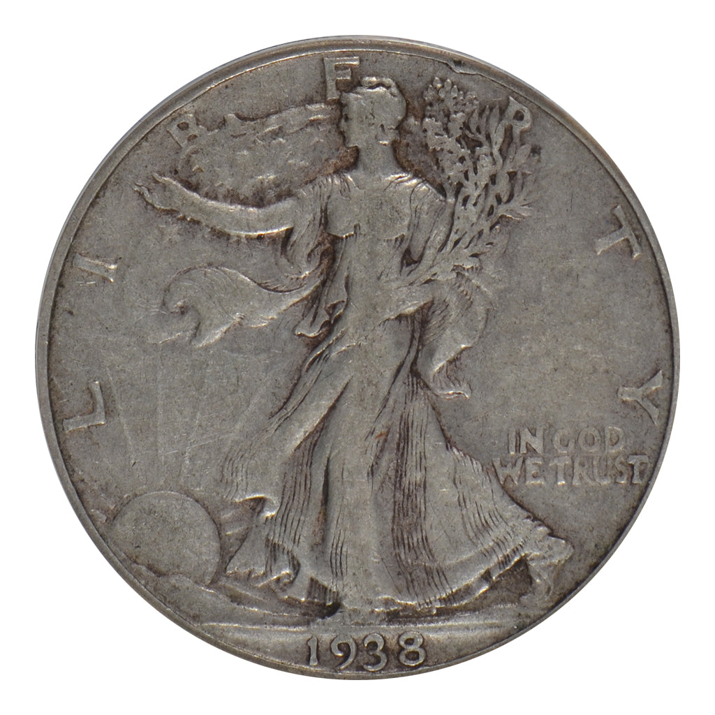 1938-D Walking Liberty Half Dollar ANACS VF30
