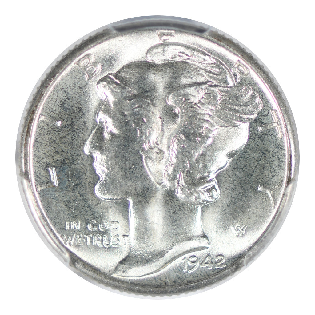 1942-D Mercury Dime PCGS MS67 FB