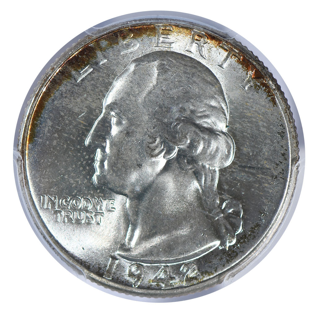 1942 Washington Quarter PCGS MS67