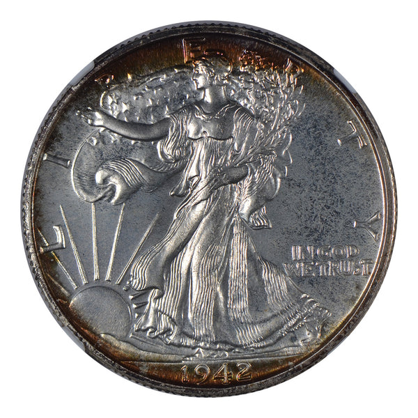 1942 Walking Liberty Half Dollar NGC PF68