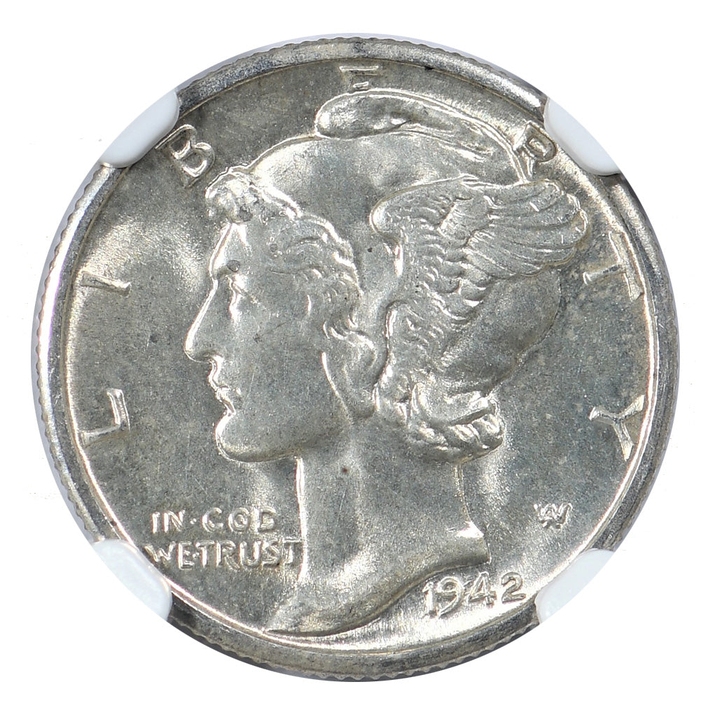 1942-D Mercury Dime NGC MS65FB