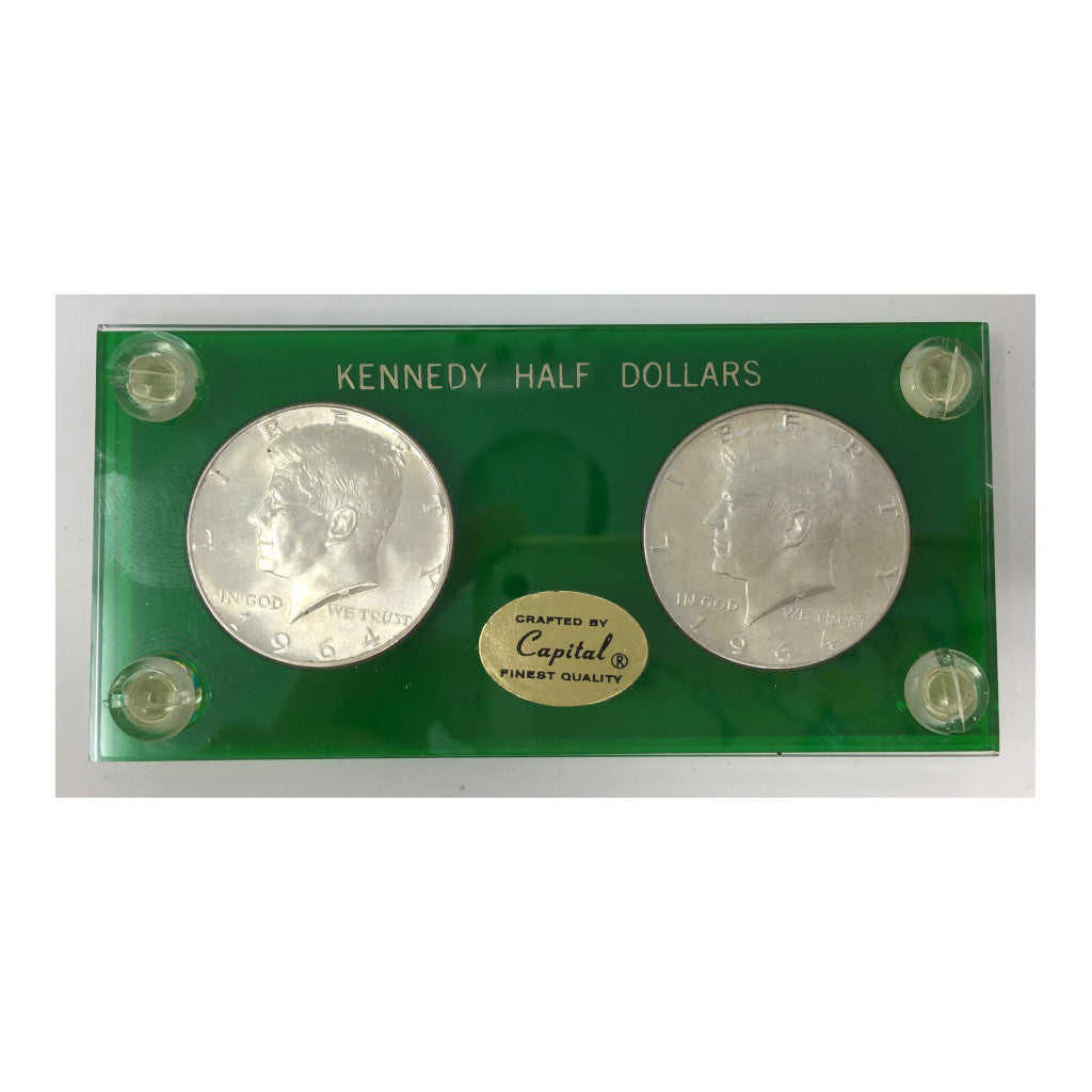 1964 Kennedy Half Dollars in Capital Plastics