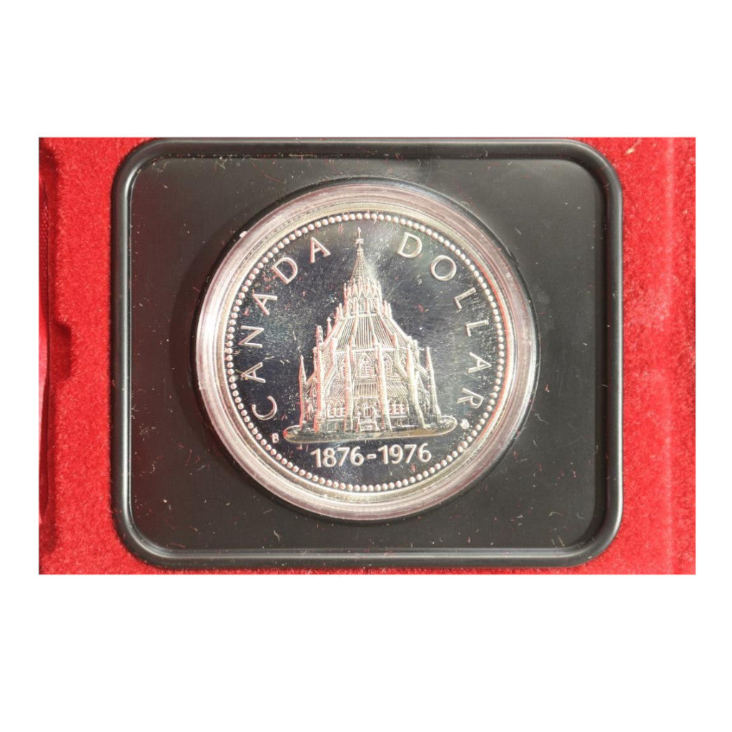 1976 Parliament Library Canadian Silver Dollar Proof