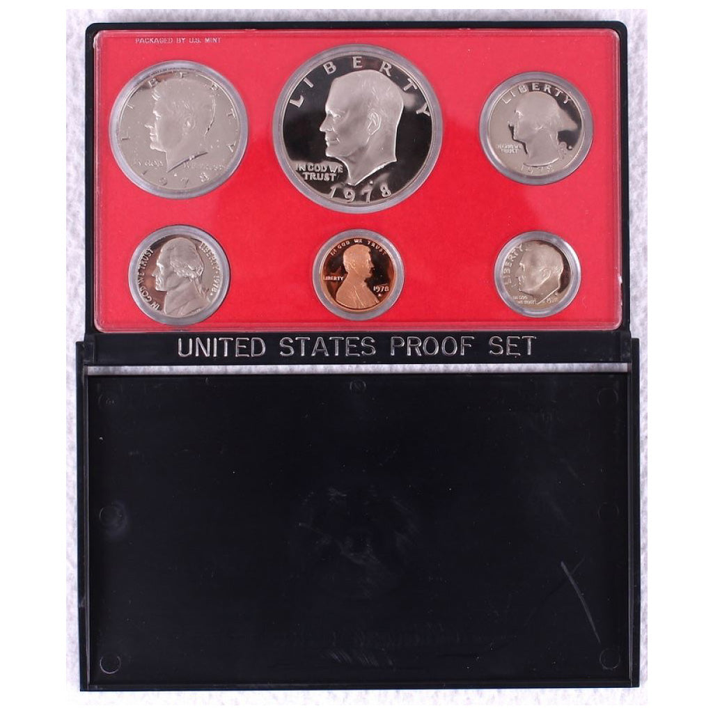 1978-S U.S. Clad Proof Set: Complete 6-Coin Set, Original Packaging