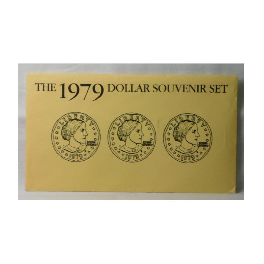 1979 U.S. Uncirculated Set, Susan B. Anthony Souvenir Set, PDS Yellow Envelope