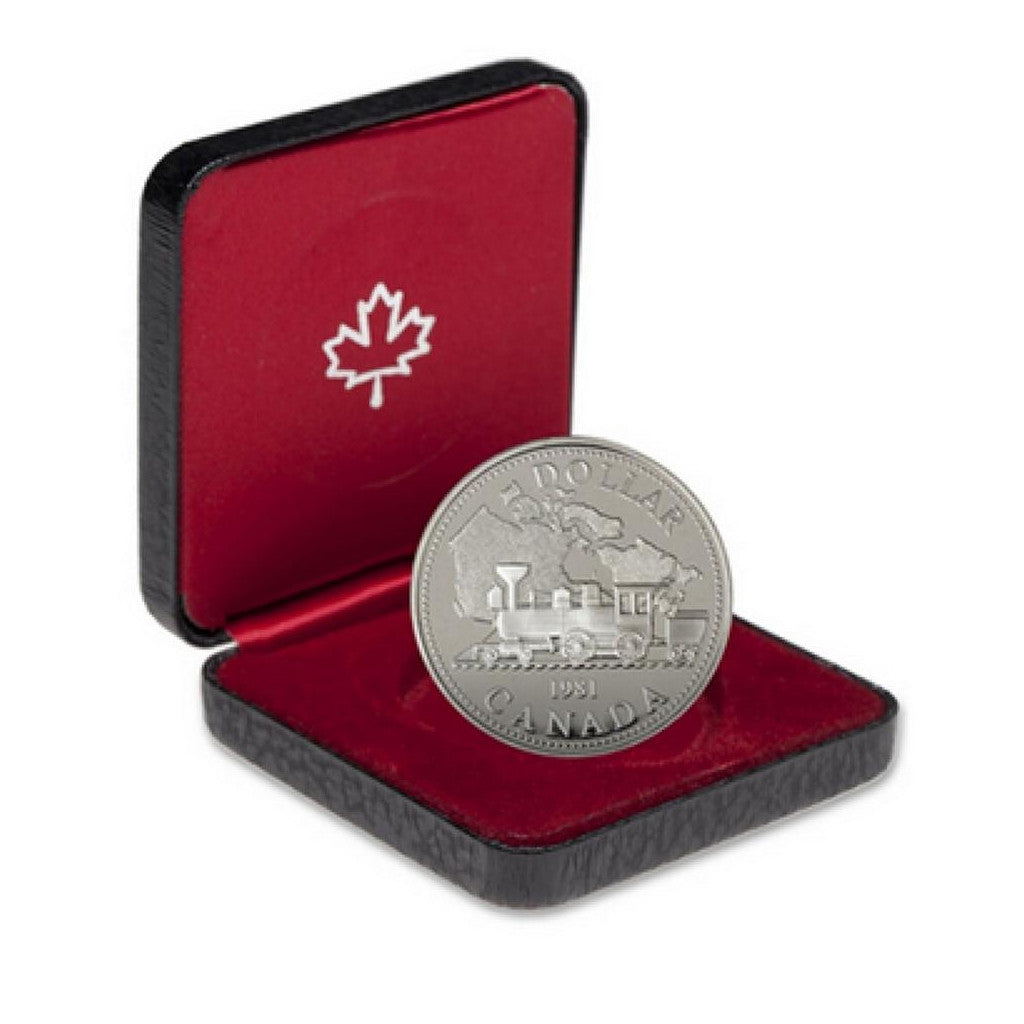 1981 Canada Railroad Canadian Silver Dollar Proof