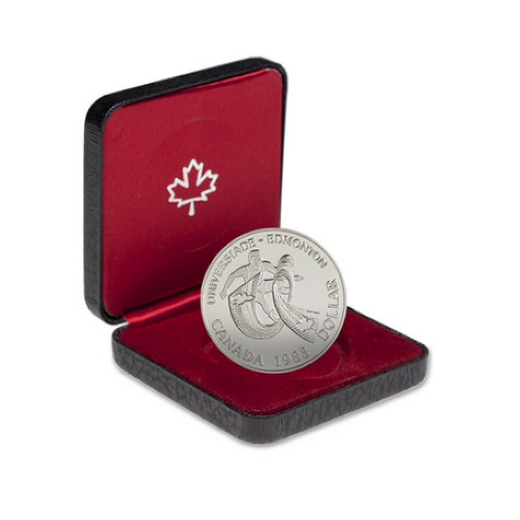 1983 World University Games Edmonton Canadian Silver Dollar Proof