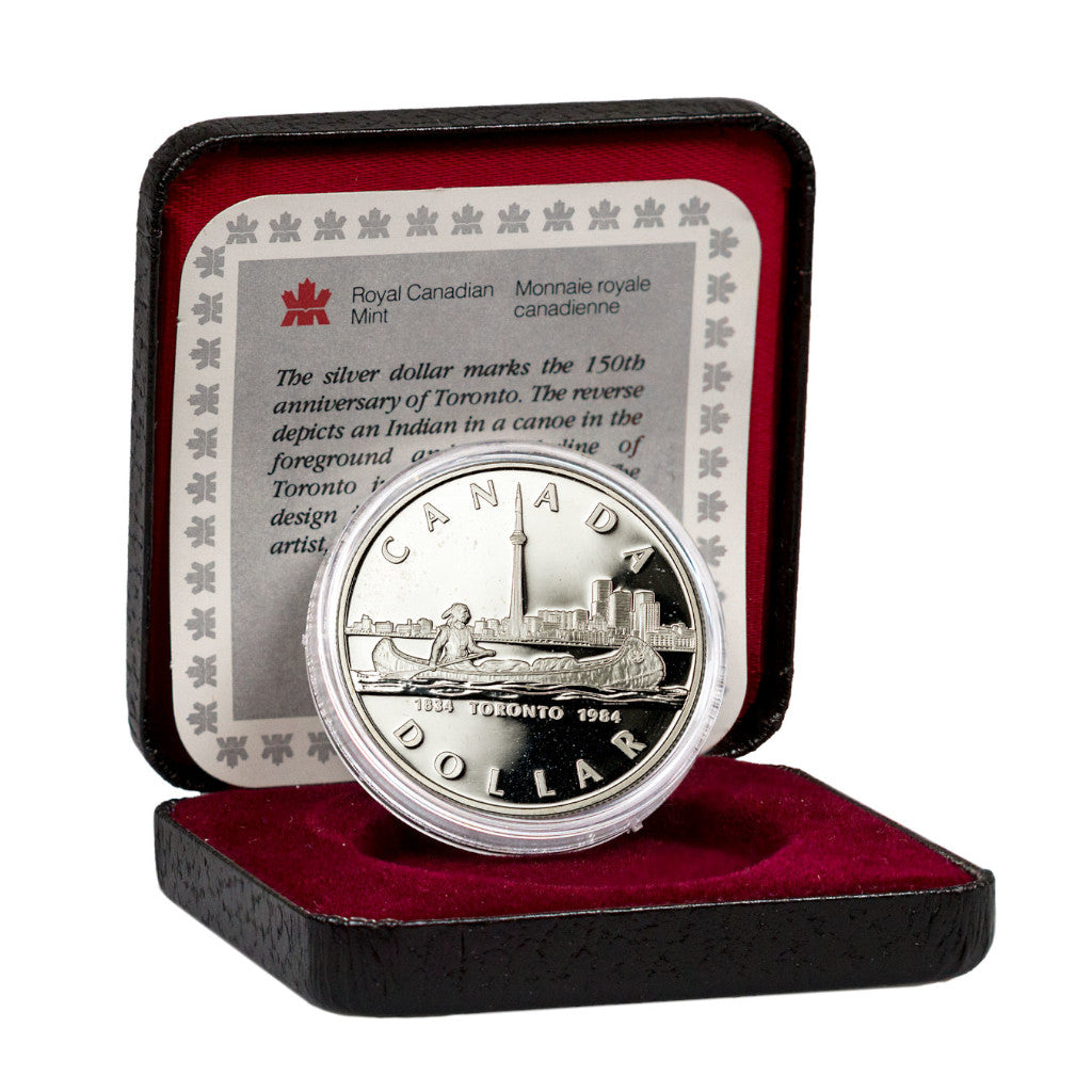 1984 Toronto Sesquicentennial Canadian Silver Dollar Proof