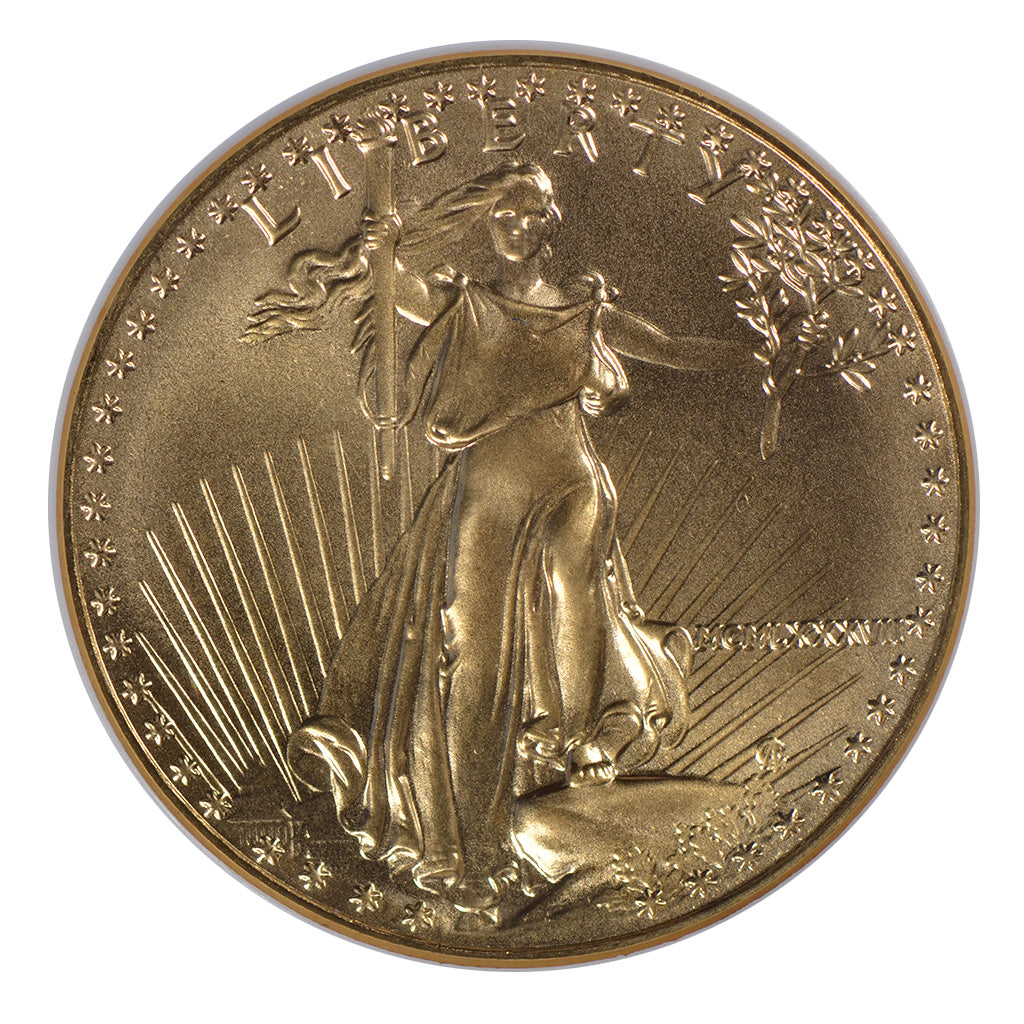 1987 1 oz American Gold Eagle NGC MS70