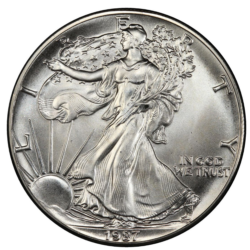 1987 1 oz American Silver Eagle Mint State Condition