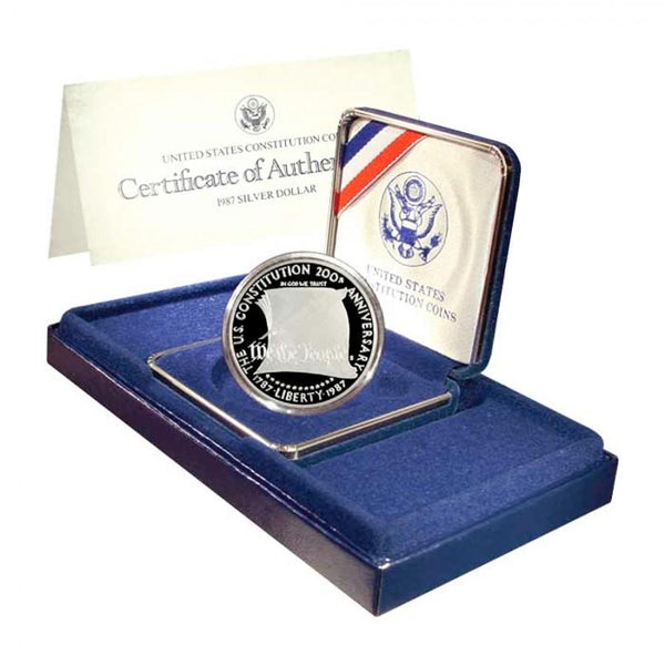 1987 Constitution Commemorative Silver Dollar Proof