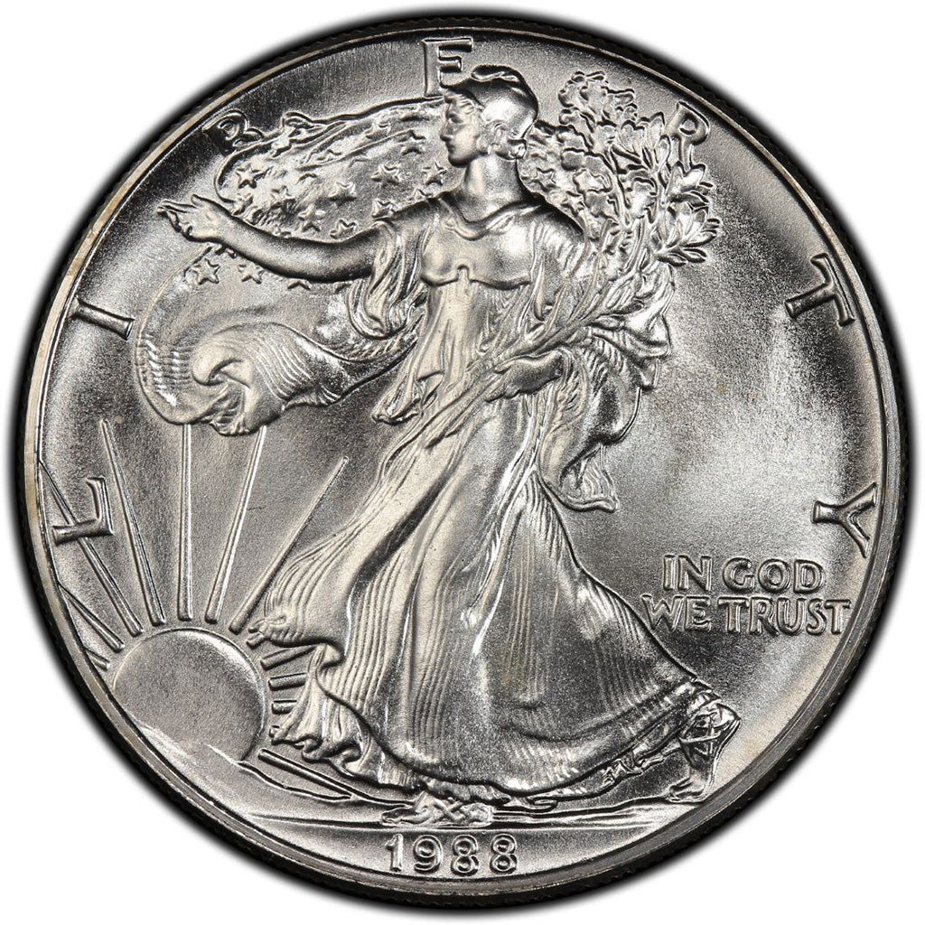 1988 American Silver Eagle Mint State