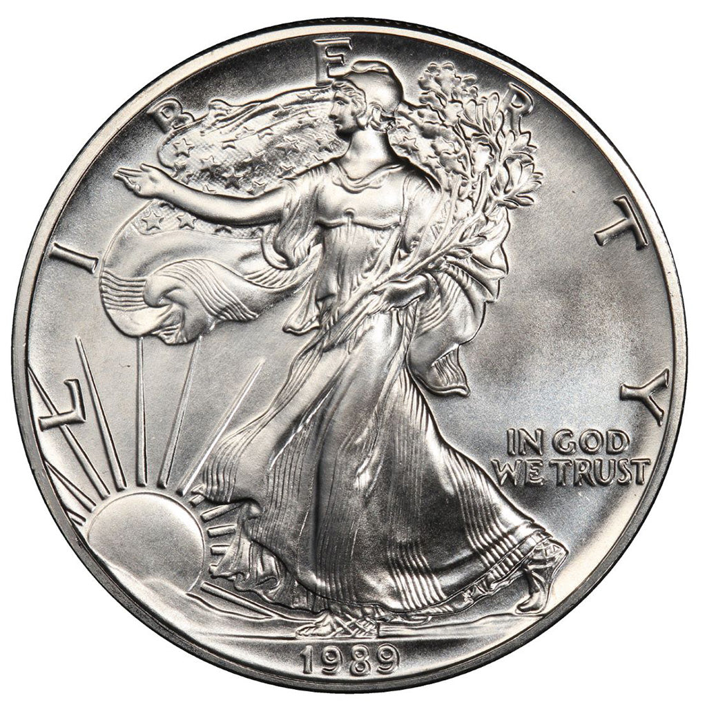 1989 1 oz American Silver Eagle Mint State