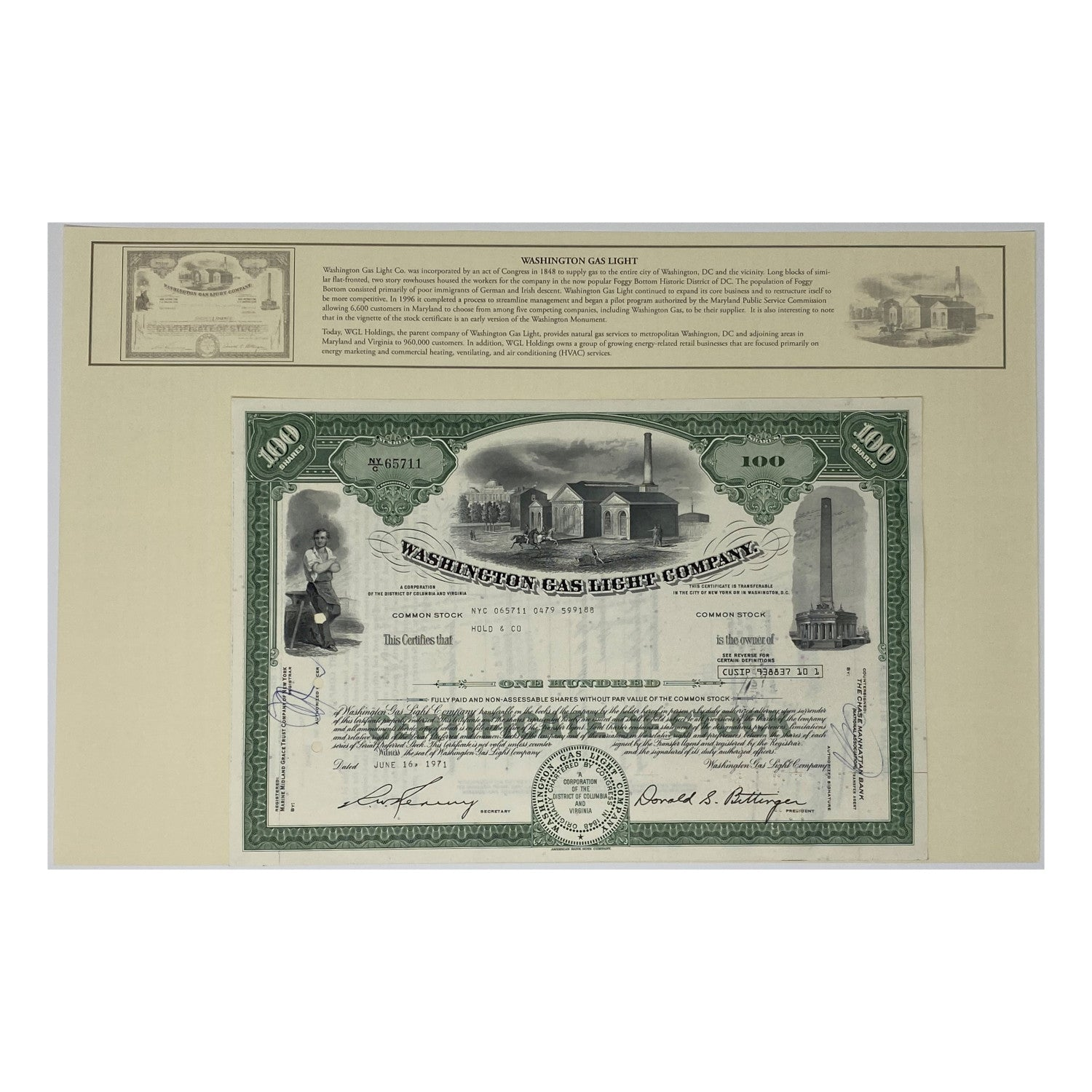 Presentation Set of 25 Stock Certificates in Deluxe Display Portfolio with Histories: Great American Corporations (1920's - 1970's)