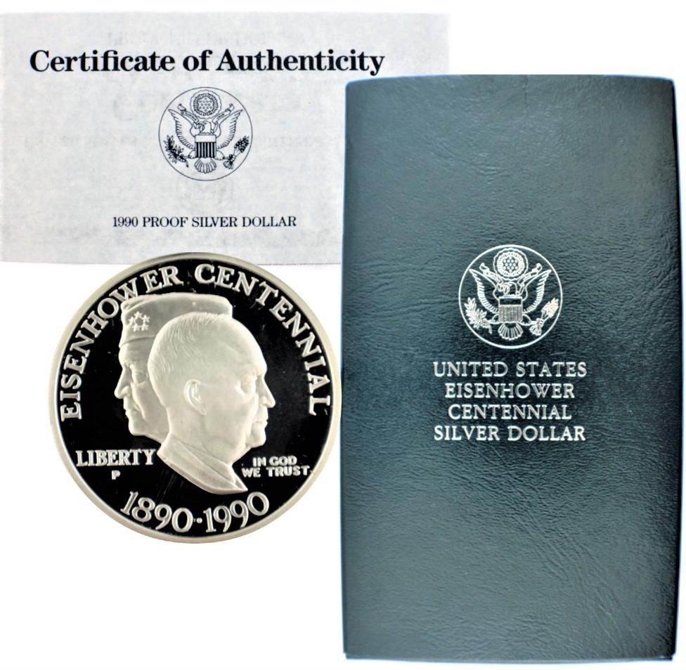 1990-P Eisenhower Commemorative Silver Dollar Proof