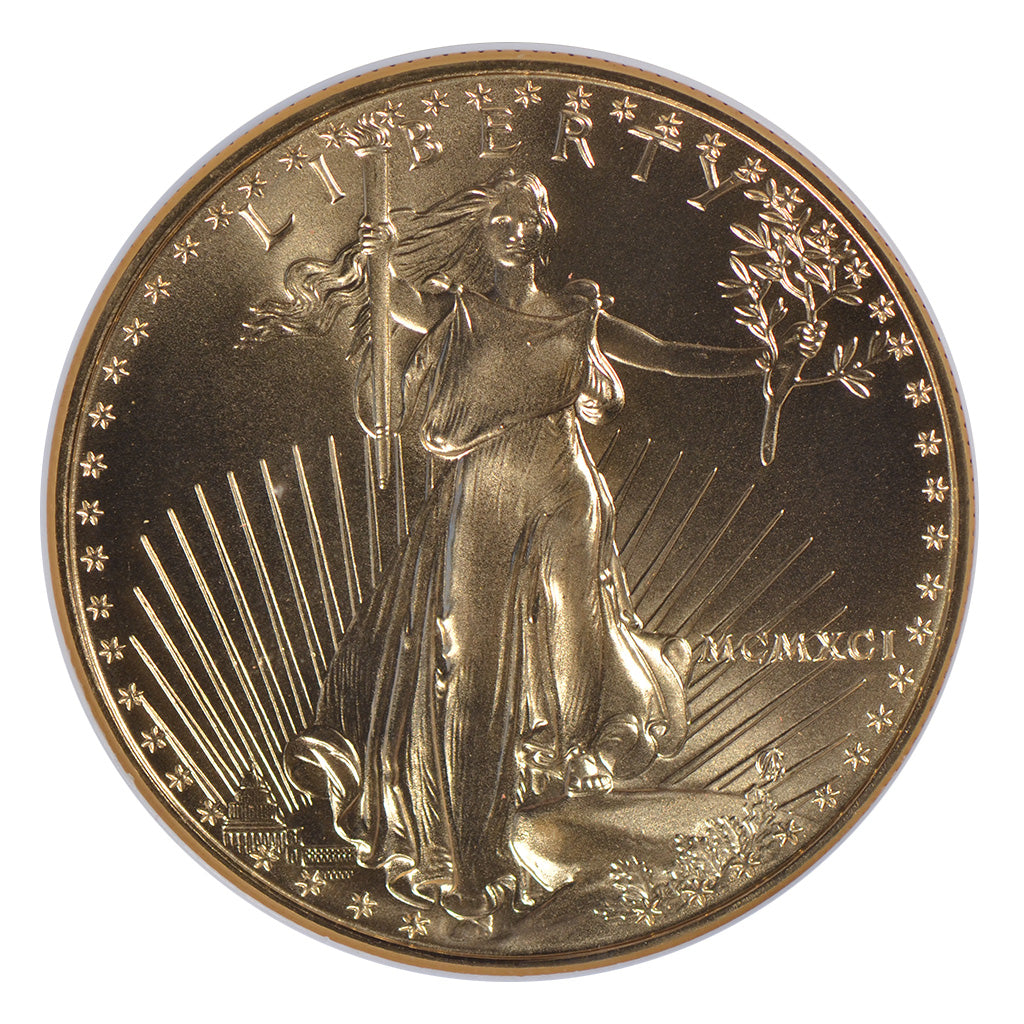 1991 1 oz American Gold Eagle NGC MS70