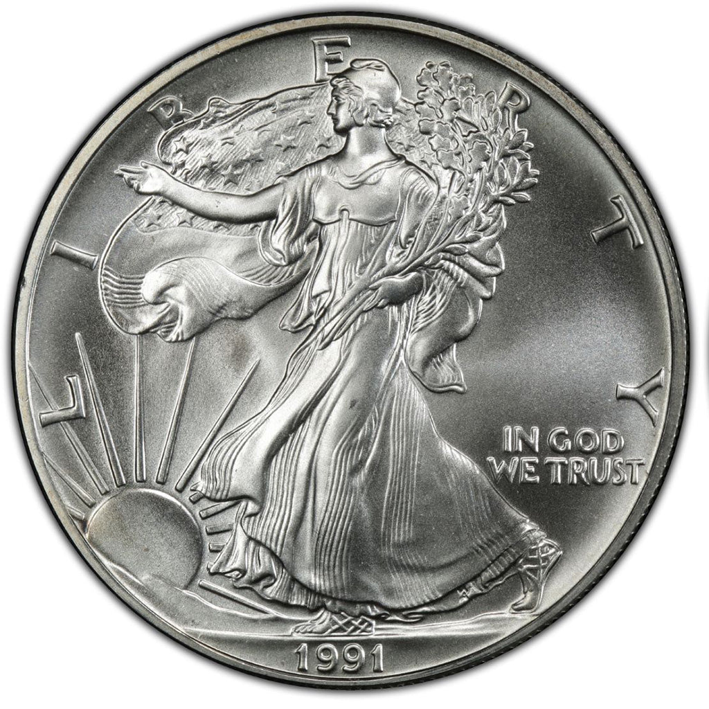 1991 1 oz American Silver Eagle Mint State