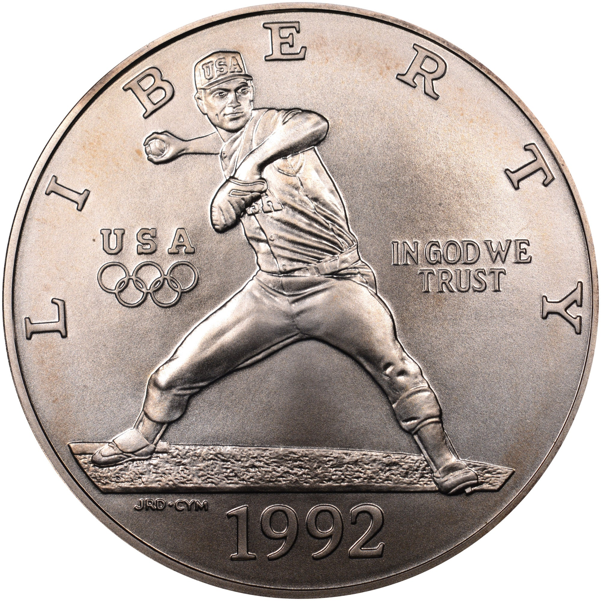 1992-D Olympic Baseball Commemorative Silver Dollar Mint State